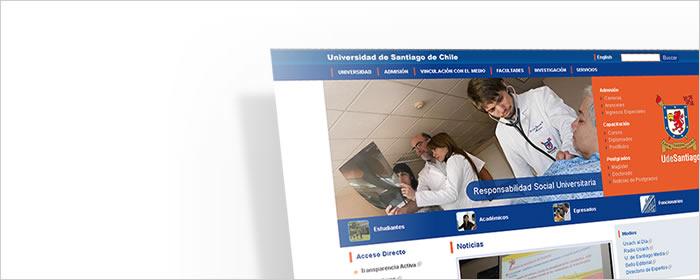 Desarrollo web en portal U. de Santiago